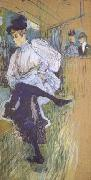 Henri  Toulouse-Lautrec Jane Avril Dancing (mk06) oil painting picture wholesale