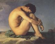 Hippolyte Flandrin Young Man Beside the Sea A study (mk05)