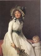 Jacques-Louis  David Emilie Seriziat nee Pecoul and Her Son Emil Born in 1793 (mk05)