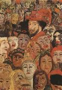 James Ensor Portrait of the Artist Sur-Rounded by Masks (mk09) oil painting