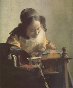 Jan Vermeer The Lacemaker (mk05) oil painting picture wholesale