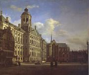 Jan van der Heyden The Dam with the New Town Hall in Amsterdam (mk05) oil painting picture wholesale