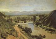 Jean Baptiste Camille  Corot The Bridge at Narni A study (mk05) oil painting picture wholesale