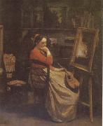 Jean Baptiste Camille  Corot The Studio (mk09) oil painting picture wholesale