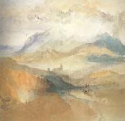 Joseph Mallord William Turner View of an Alpine Valley probably the Val d'Aosta (mk10) oil painting picture wholesale