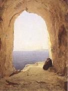 Karl Blechen Monks at the Gulf of Naples (mk09) oil painting