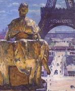 Louis Welden Hawkins THe Eiffel Tower,Seen from the Trocadero (mk06) oil painting picture wholesale