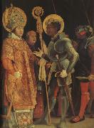 Matthias  Grunewald The Meeting of St Erasmus and St Maurice (mk08) oil painting artist