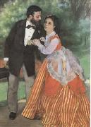 Pierre-Auguste Renoir The Painter Sisley and his Wife (mk09) oil painting on canvas