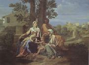 Poussin The Holy Family in a Landscape (mk05) oil painting picture wholesale