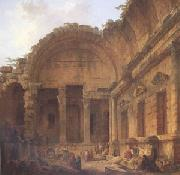 Interior of the Temple of Diana at Nimes (mk05)