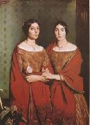 Theodore Chasseriau The Sisters of the Artist (mk09) oil painting picture wholesale