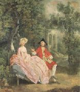 Conversation in a Park(perhaps the Artist and His Wife) (mk05)