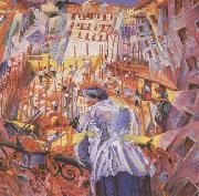 Umberto Boccioni The Noise of the Street Enters the House (mk09) oil painting
