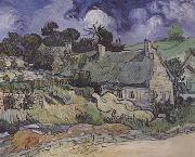 Vincent Van Gogh Thatched Cottages at Cordeville,at Auvers-sur-Oise (mk06) oil painting picture wholesale