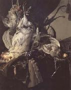 Aelst, Willem van Still Life of Dead Birds and Hunting Weapons (mk14) oil painting reproduction