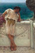 Alma-Tadema, Sir Lawrence The Poet Gallus Dreaming (mk23) oil painting on canvas