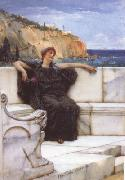 Alma-Tadema, Sir Lawrence Resting (mk23) oil painting reproduction