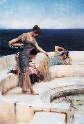 Alma-Tadema, Sir Lawrence Silver Favourites (mk23) oil painting reproduction