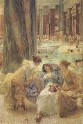 Alma-Tadema, Sir Lawrence The Baths of Caracalla (mk24) oil painting reproduction