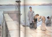 Alma-Tadema, Sir Lawrence The Kiss (mk23) oil painting reproduction