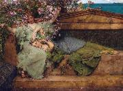 Alma-Tadema, Sir Lawrence In a Rose Garden (mk23) oil painting reproduction