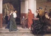 Alma-Tadema, Sir Lawrence Entrance to a Roman Theatre (mk23) oil painting reproduction