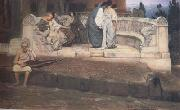 Alma-Tadema, Sir Lawrence An Exedra (mk23) oil painting reproduction