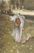 Alma-Tadema, Sir Lawrence Spring in the Gardens of the Villa Borghese (mk23) oil painting reproduction