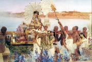 Alma-Tadema, Sir Lawrence The Finding of Moses (mk23) oil painting reproduction