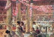 Alma-Tadema, Sir Lawrence Caracalla and Geta (mk23) oil painting reproduction