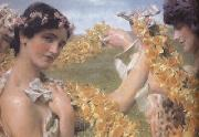 Alma-Tadema, Sir Lawrence When Flowers Return (mk23) oil painting reproduction