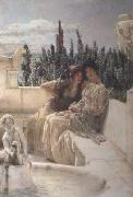 Alma-Tadema, Sir Lawrence Whispering Noon (mk23) oil painting reproduction
