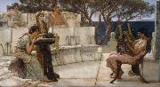 Alma-Tadema, Sir Lawrence Sappho (mk23) oil painting reproduction