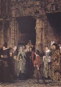 Alma-Tadema, Sir Lawrence Leaving Church in the Fifteenth Century (mk23) oil painting picture wholesale