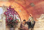 Alma-Tadema, Sir Lawrence Unconscious Rivals (mk23) oil painting reproduction