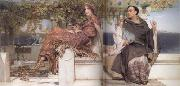 Alma-Tadema, Sir Lawrence The Conversion of Paula by Saint Jerome (mk23) oil painting reproduction