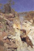 Arthur streeton Fire's on (lapstone tunnel) oil painting picture wholesale