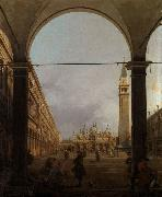 Canaletto Piazza S.Marco verso la basilica,dall'angolo nord-oves (mk21) oil painting picture wholesale