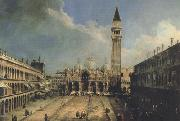 Canaletto Piazza S.Marco con la basilica di fronte (mk21) oil painting reproduction