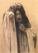 Carlos Schwabe Study for The Wave female figure left of the central figure (mk19) oil painting