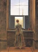 Caspar David Friedrich Woman at the Window (mk10) oil painting picture wholesale