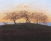 Caspar David Friedrich Hills and Ploughed Fields near Dresden (mk10) oil painting picture wholesale