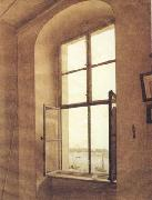 Caspar David Friedrich View of the Artist's Studio Left Window (mk10) oil painting picture wholesale