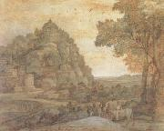 Claude Lorrain View of Delphi with a Procession (mk17) oil painting picture wholesale