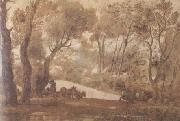 Claude Lorrain Deer-Hunt (mk17) oil painting picture wholesale