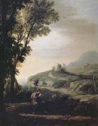 Claude Lorrain Pastoral Landscape with Piping Shepherd (mk17) oil painting picture wholesale