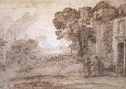 Claude Lorrain Landscape with Abraham Expelling Hagar and Ishmael (mk17) oil painting picture wholesale