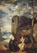 Diego Velazquez Saint Antoine abbe et Saint Paul ermite (df02) oil painting picture wholesale
