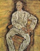 Egon Schiele Portrait of Victor Ritter von Bauer (mk12) oil painting reproduction